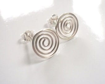 Spiral Earrings Sterling Silver Earrings with Posts