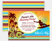 "SURF INVITATION - Printable 5""x7"" Invitation - Surf's Up Collection by Make Life Cute"