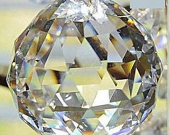 1 - 40mm Clear Crystal Ball Chandelier Prism - FULL LEAD Crystal Faceted Crystal Ball (S-18)