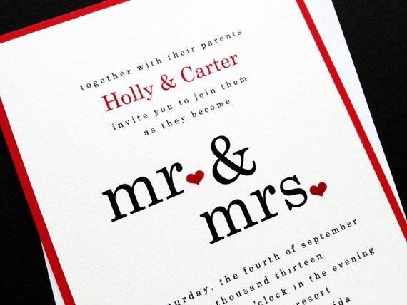 Mr And Mrs Wedding Invitation Wording: Unavailable Listing On Etsy