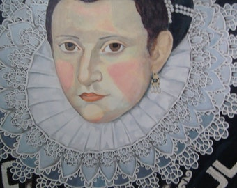 Anne Boleyn Renaissance Painting 16th Century Reproduction Old World Portrait Painting