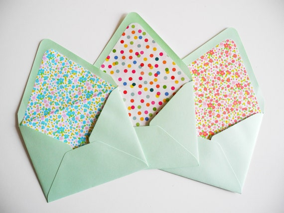 Diy Envelope Template And Envelope Liner Kit