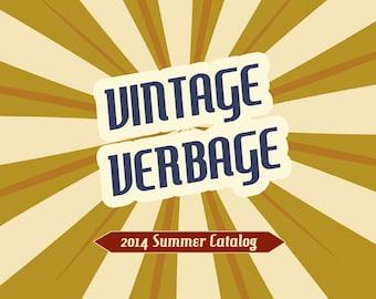 Wholsale Catalog or Line sheet- Vintage Verbage design, 3 pages