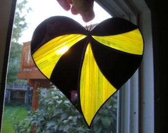 Stained glass Pittsburgh Pride suncatcher!