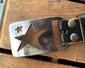 Star Rectangle Belt Buckle by WATTO Distinctive Metal Wear