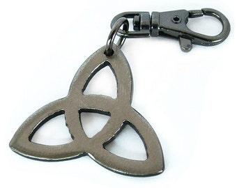 Celtic Triquetra Key Chain Handmade / WATTO Distinctive Metal Wear / Trinity Charm / Trinity Keychain / Keybob / Celtic Key Chain / Irish