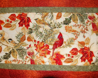 """Fall Table Runner with Birds 17"""" x 47"""""""