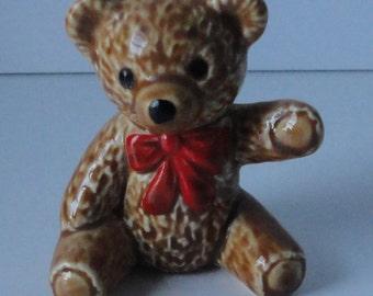 GOEBEL Bear with Red Bow Figurine.