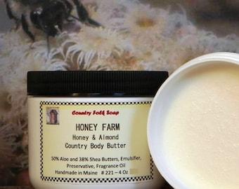 Honey Almond Body Butter HONEY FARM, Handmade Body Butter, Best Body Butter, Body Butter For Sale, Top Selling Body Butter