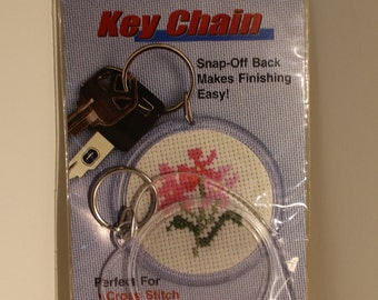 Heart Shaped Clear Keychain Frame for Cross Stitch or more