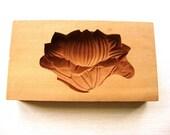 Lotus Flower  Vintage Japanese Kashigata Mold Flower Mold Sugar Cake Mold Cookie Mold