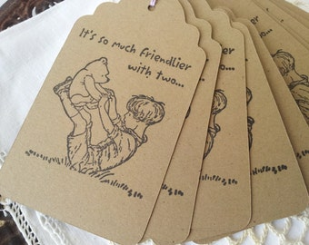 Winnie the Pooh Christopher Robin Friendship Tags Set of 6