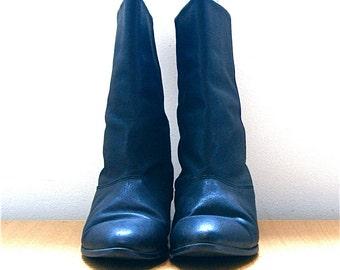 SALE / Black Leather Boot // Vintage Womens 7