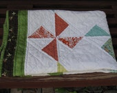 Pinwheel baby quilt ... Reduced