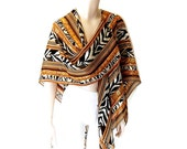 Waterfall Scarf Zebra and Gold Savannah Cascade Wrap and Scarf (and Jacket and Sarong and Belt and anything-else-you-can-think-of)