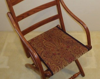 Civil War Folding Arm Chair
