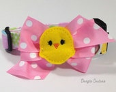 For Peeps Sake Easter Dog Collar Size XS through Large by Doogie Couture Pet Boutique