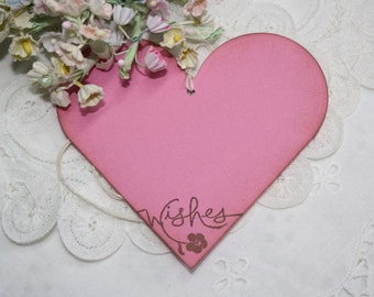 Wish Tree Wedding Tags - Wishes - Bright Pink Hearts - Birthday Wish Tags - Shower Wish Tags - Set of 25