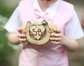 Personalized Rustic Ring Bearer Pillow Alternative Hay Bale Farm Wedding By Morgann Hill Designs