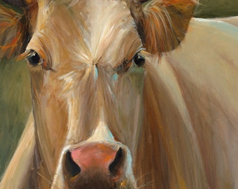 Cow Painting - Libby - Paper or Canvas Print of an original painting