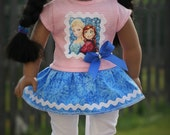 Disney FroZen Elsa/Anna Outfit for American Girl - 2 piece