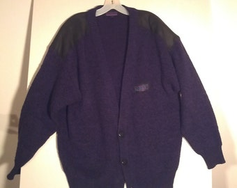 boho Florenzi sweater purple cardigan jumper knit grunge art men's medium large unisex 80s