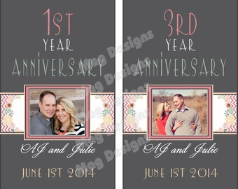 Anniversary Labels Landmark Anniversary Wine Bottle Labels Paper Goods Personalized to your year