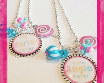 Personalized Jewelry SWEET SISTER NECKLACE - Personalized Big Sister or Little Sister Necklace - Sister Jewelry
