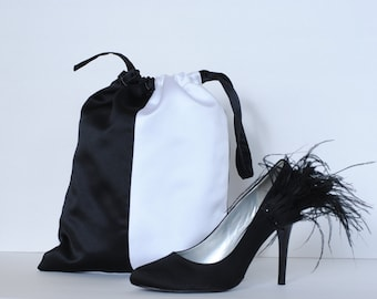 Dance Shoe Bag, Women's, Black and White
