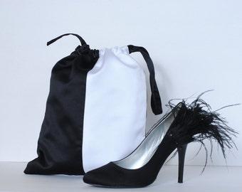 Dance Shoe Bag, Women's, Black and White