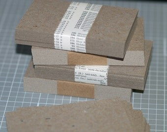 Chipboard Business Card Blanks (100) ... Lightweight Chipboard Gray Cards Grey Business Cards Seller Supplies DIY Business Cards Recycled