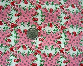 "Vintage 100% Cotton Quilting Fabric - Beautiful ""Granny's Thirteen"" Wedding Ring Design Fabric  - 44 "" wide - Sold by the yard"
