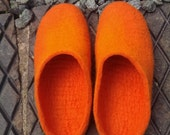 Hand Felted Slippers - Merino - size Eur37/UK4.5/US6.5