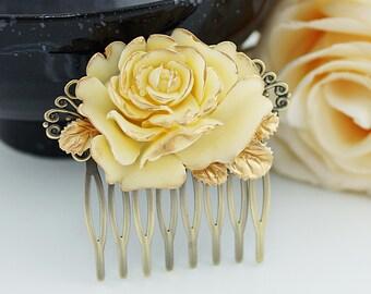 Bridal Hair Comb Wedding Hair Comb Bridesmaids Gift Vintage style Rose Hair comb Bridal Hair accessories Bridal Hair Piece