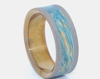 wedding rings, titanium rings, wood rings, men's ring, women's ring, unique wedding ring, engagement rings, commitment ring - SWEET MOSS