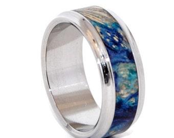 wedding rings, titanium rings, wood rings, mens rings, Titanium Wedding Bands, Eco-Friendly Rings, Wedding Rings - LOVE'S PULSE and WHISPER