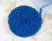 CAPRI BLUE Enameled Chain - Thick 3.5x5mm Links - 2 ft - Check Out All the Colors