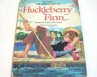 Mark Twain's The Adventures Of Huckleberry Finn Vintage Childrens Book