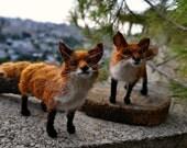 Needle Felted  Animal . Fox. Made for custom orders