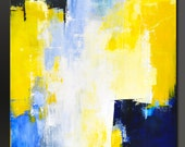 Big Sky Blue - 48 x 30 - Abstract Acrylic Painting- Modern Contemporary Wall Art-Large