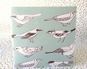 birds ~ blank diagonal enclosure pocket notebook