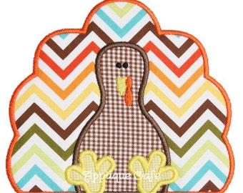 375 Turkey 4 Machine Embroidery Applique Design