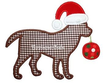 180 Christmas Dog Machine Embroidery Applique Design