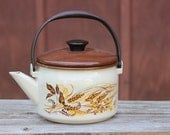 I'm Just a Little Brown Tea Pot - Hear me Shout - Vintage Brown Enamel Teapot