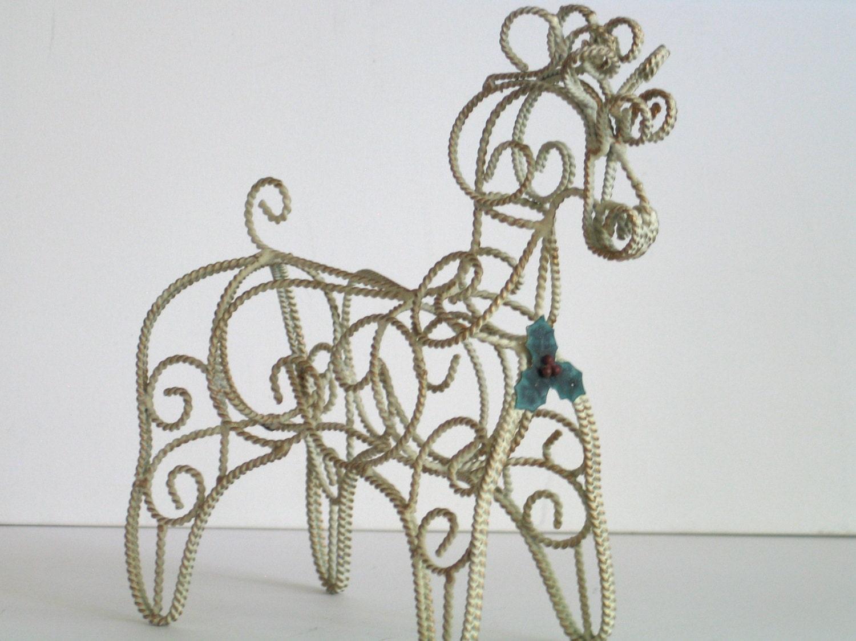 Horse wire christmas decor art