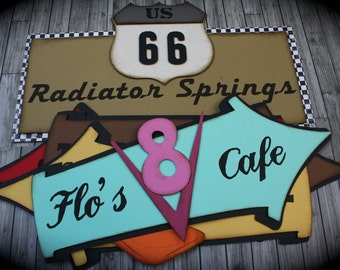 Disney CARS themed directional SIGNS