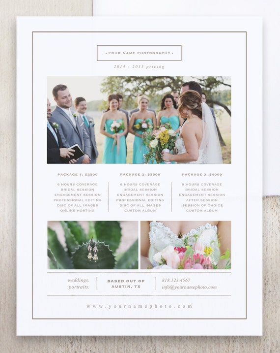 photography marketing photo pricing guide templates price