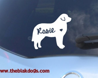 Great Pyrenees Silhouette Vinyl Sticker - personalized Car Decal