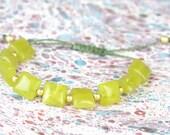 SALE- Serpentine and sterling silver  bracelet