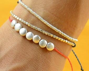 Sterling silver  friendship cord bracelet